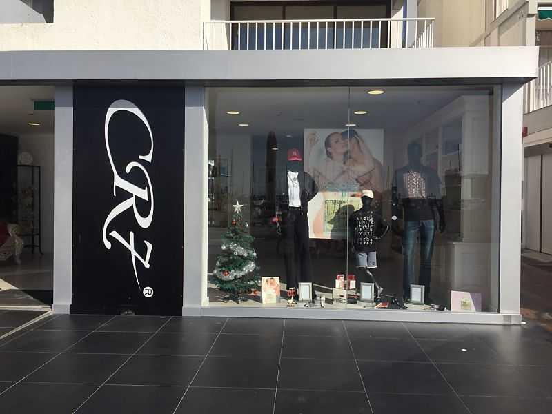 Un negozio della catena CR7 di Cristiano Ronaldo a Vilamoura Marina (Algarve Portogallo)
