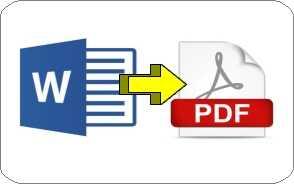 Come convertire un file word in pdf