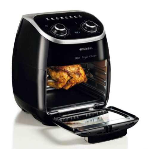 Come cucinare il pollo allo spiedo nella friggitrice ad aria con girarrosto