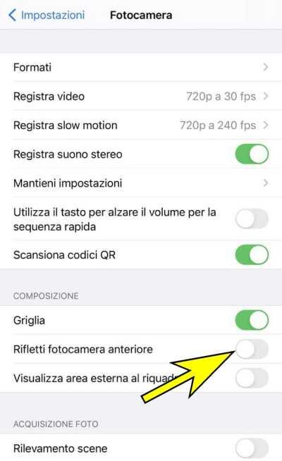 Come disattivare l'effetto specchio nei selfie con iPhone